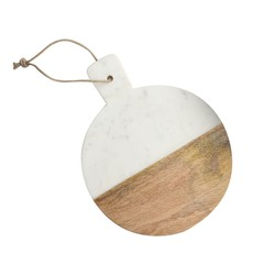 Dassie Artisan Snijplank rond Marble wit