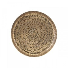 House Doctor Dienblad Rattan Brass Finish