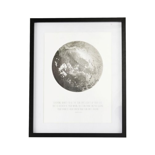 House Doctor Frame quote Moon