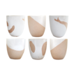 Dipped White Assorted Tea Cups