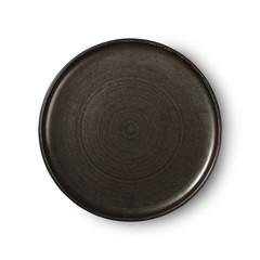 HKliving Keramiek rustiek bord zwart