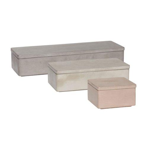Hübsch Opbergbak Concrete set