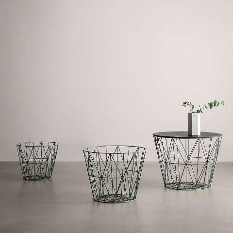 Nieuw! De groene Ferm LIVING baskets.