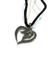 Necklace heart - silver