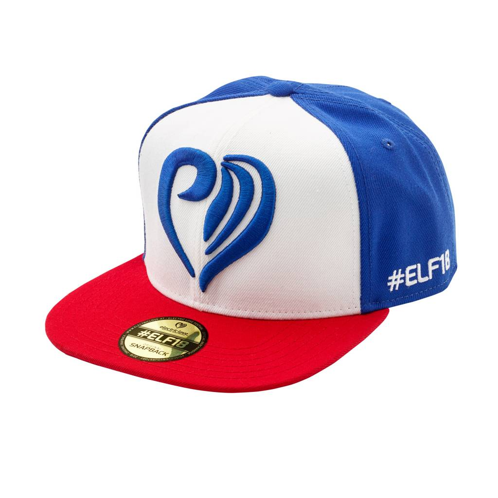 Snapback Heart Red White Blue Electric Love Merchandise
