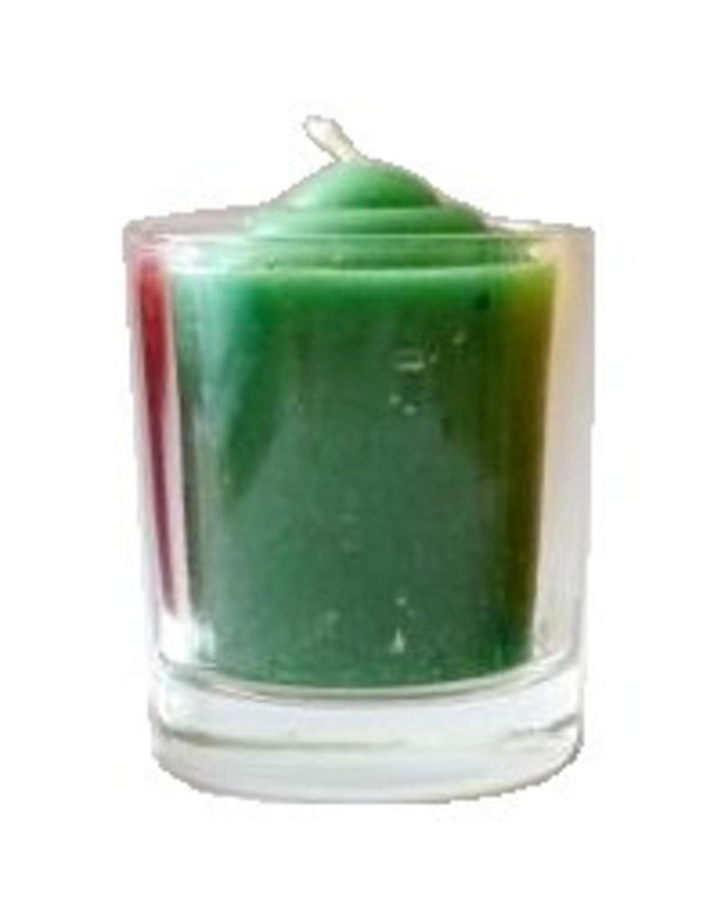 Votivkerze durchgefärbt im Glas