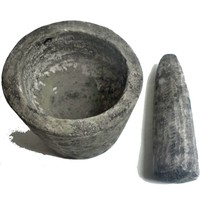 thumb-Rustikaler Mörser aus Lavasand-Zementgemisch-3