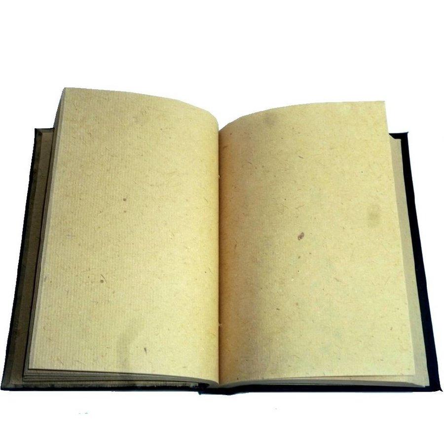 Buch der Schatten mit Kupferbeschlägen und Pentagramm-2