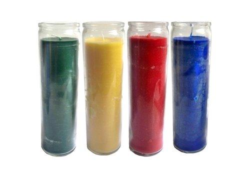 Durchgefärbte Kerze im Glas