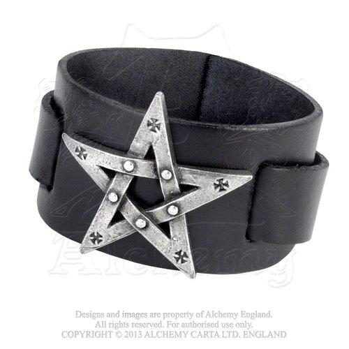 Lederarmband Pentagramm