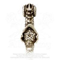 thumb-Dragon Wand, Stab mit Drachenkopf und Pentagramm-3