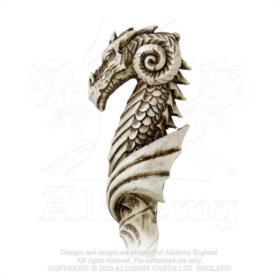 Dragon Wand, Stab mit Drachenkopf und Pentagramm-1
