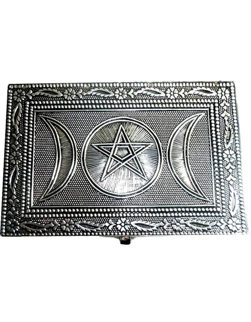 Metalldose mit Pentagramm und Dreifachmond