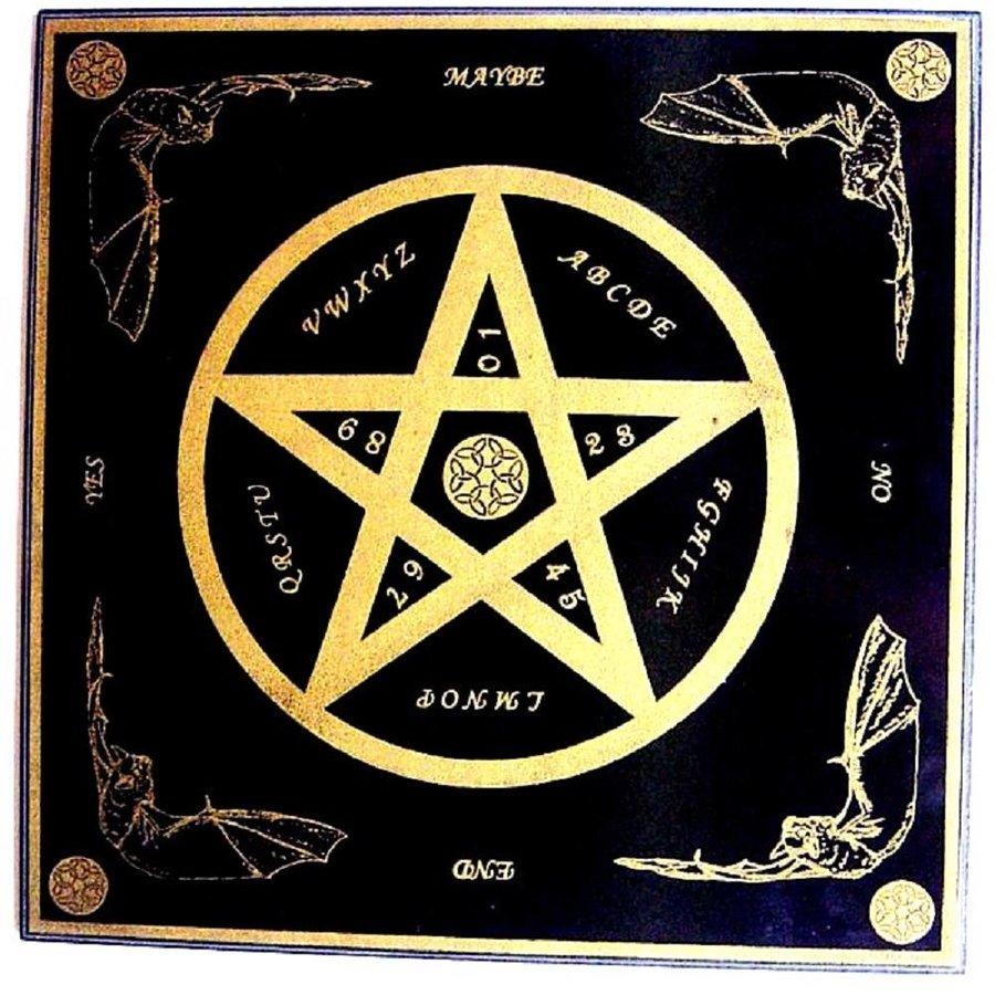Witchboard klein mit Pentagramm-1