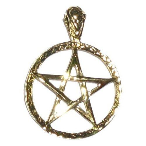 Anhänger Pentagramm, 28 mm, Bronze