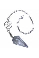 Bergkristall Pendel mit Pentagrammkette