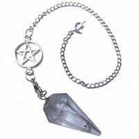 thumb-Bergkristall Pendel mit Pentagrammkette-3