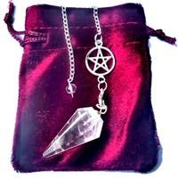 thumb-Bergkristall Pendel mit Pentagrammkette-5