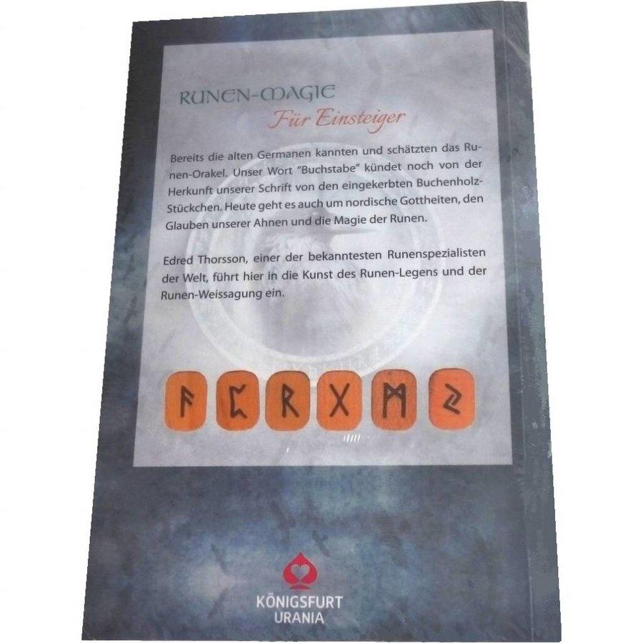 """Set: Buch """"Runenmagie für Einsteiger"""" und 24 Buchenholz-Runen-3"""