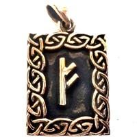 thumb-Amulett Rune, Fehu Anhänger-1