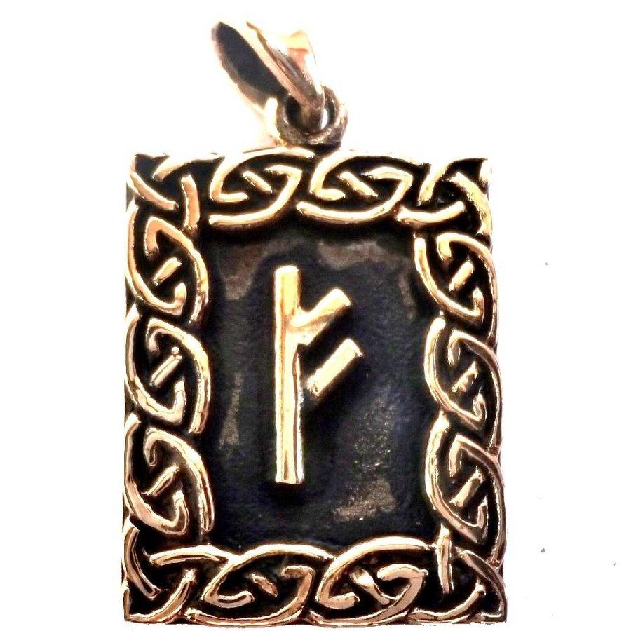 Amulett Rune, Fehu Anhänger-1
