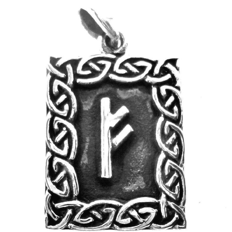 Amulett Rune, Fehu Anhänger-2