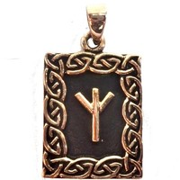 thumb-Amulett Rune, Algiz Anhänger-1