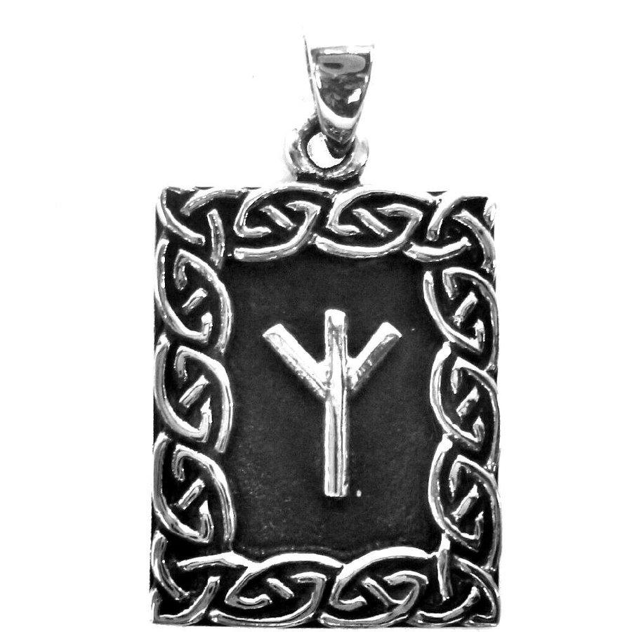 Amulett Rune, Algiz Anhänger-2
