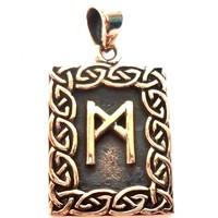 thumb-Amulett Rune, Mannaz Anhänger-1