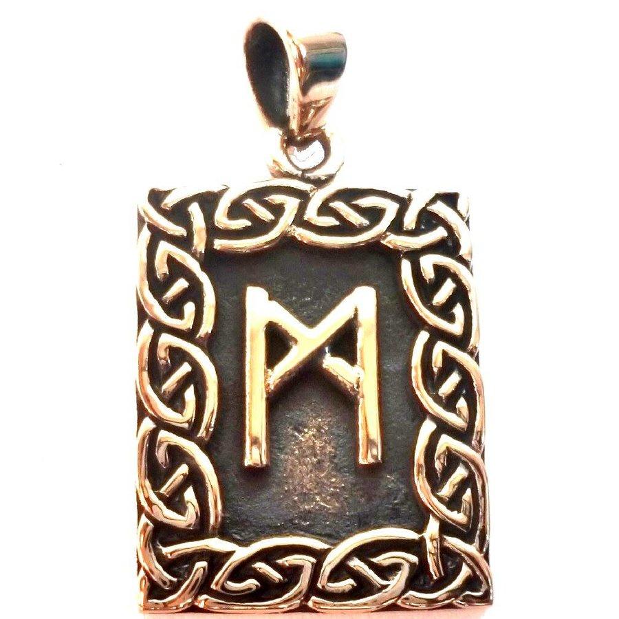 Amulett Rune, Mannaz Anhänger-1