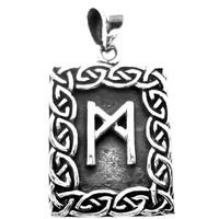 thumb-Amulett Rune, Mannaz Anhänger-2