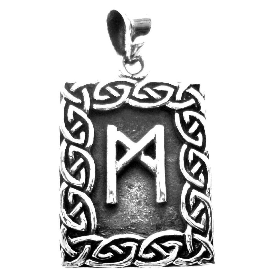 Amulett Rune, Mannaz Anhänger-2