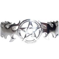thumb-Armreif mit Pentagramm aus Edelstahl-1