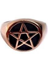 Bronze Ring mit Pentagramm