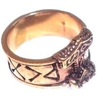 thumb-Bronze Thor Hammer Ring mit Runen-3
