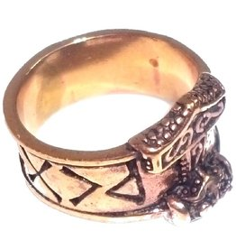 Thor Hammer Ring Bronze