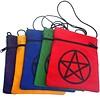 Brustbeutel mit Pentagramm in verschiedenen Farben