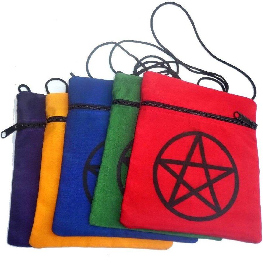 Brustbeutel mit Pentagramm in verschiedenen Farben-2