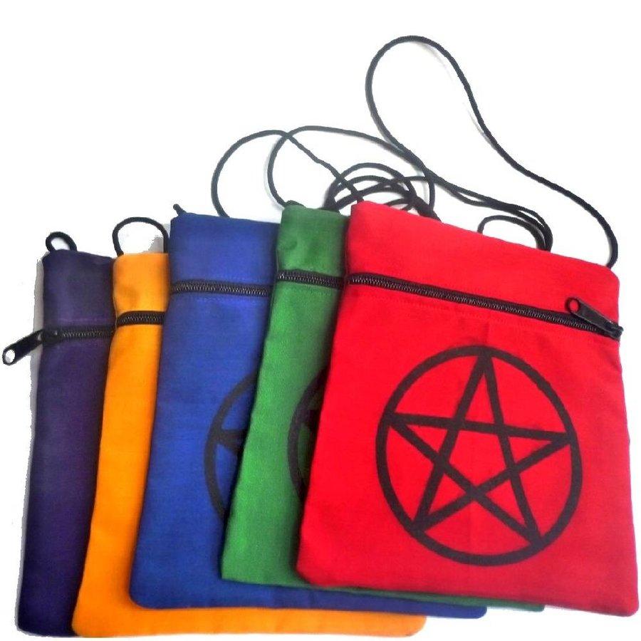 Brustbeutel mit Pentagramm in verschiedenen Farben-3