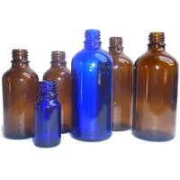 thumb-Medizinflasche, Elixierflasche, aus braunem oder blauem Glas-2