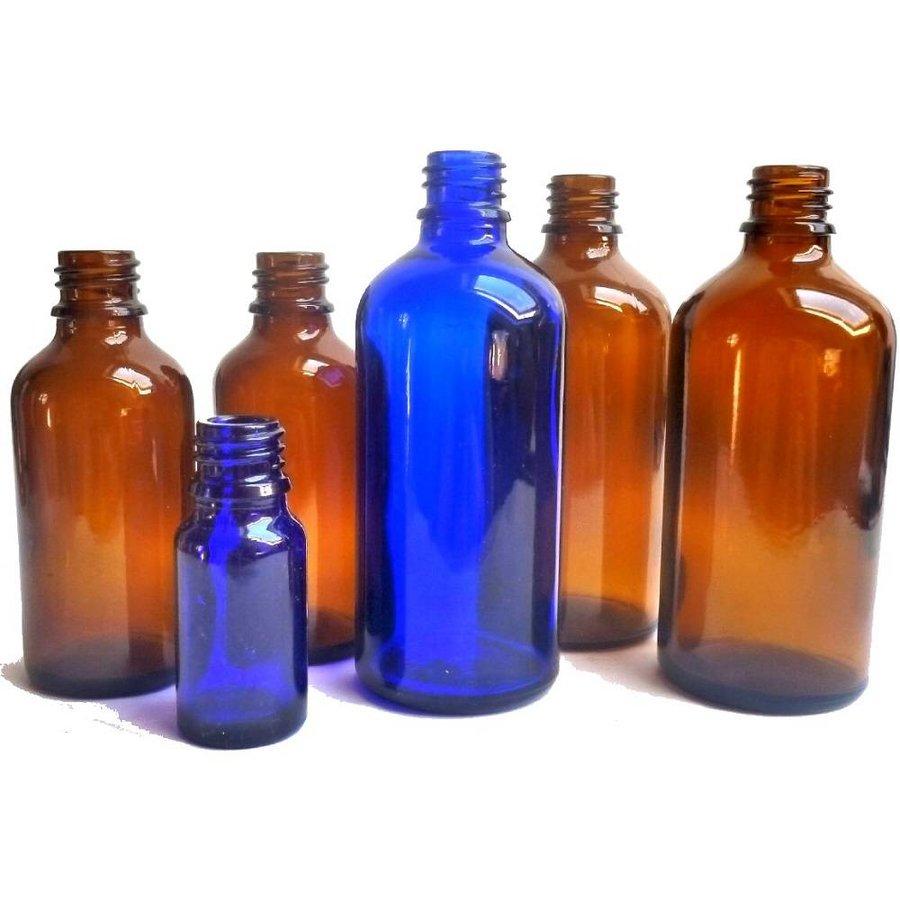 Medizinflasche, Elixierflasche, aus braunem oder blauem Glas-1