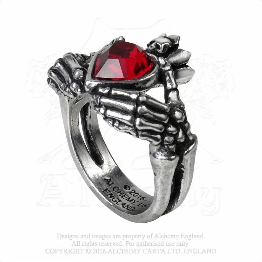 Schön gearbeiteter Claddagh Ring aus feinem englischen Zinn-1
