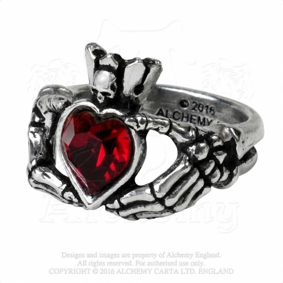 Schön gearbeiteter Claddagh Ring aus feinem englischen Zinn-2
