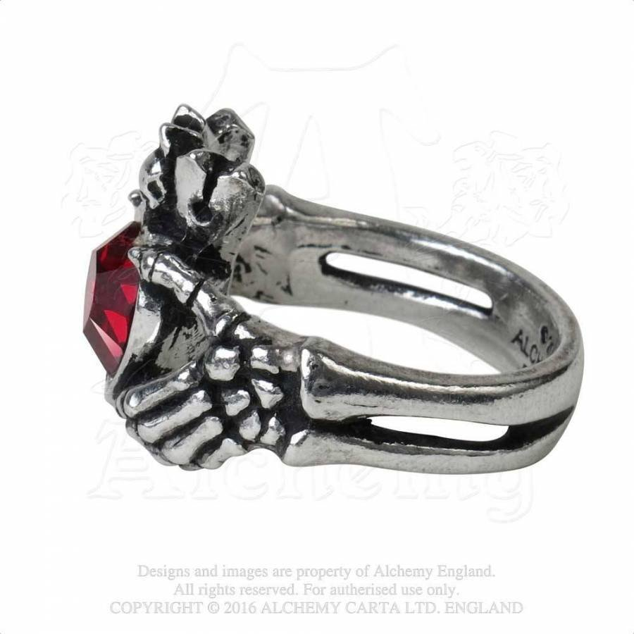 Schön gearbeiteter Claddagh Ring aus feinem englischen Zinn-4