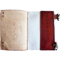 thumb-Buch der Schatten mit Ledereinband und Messingbeschlägen-5