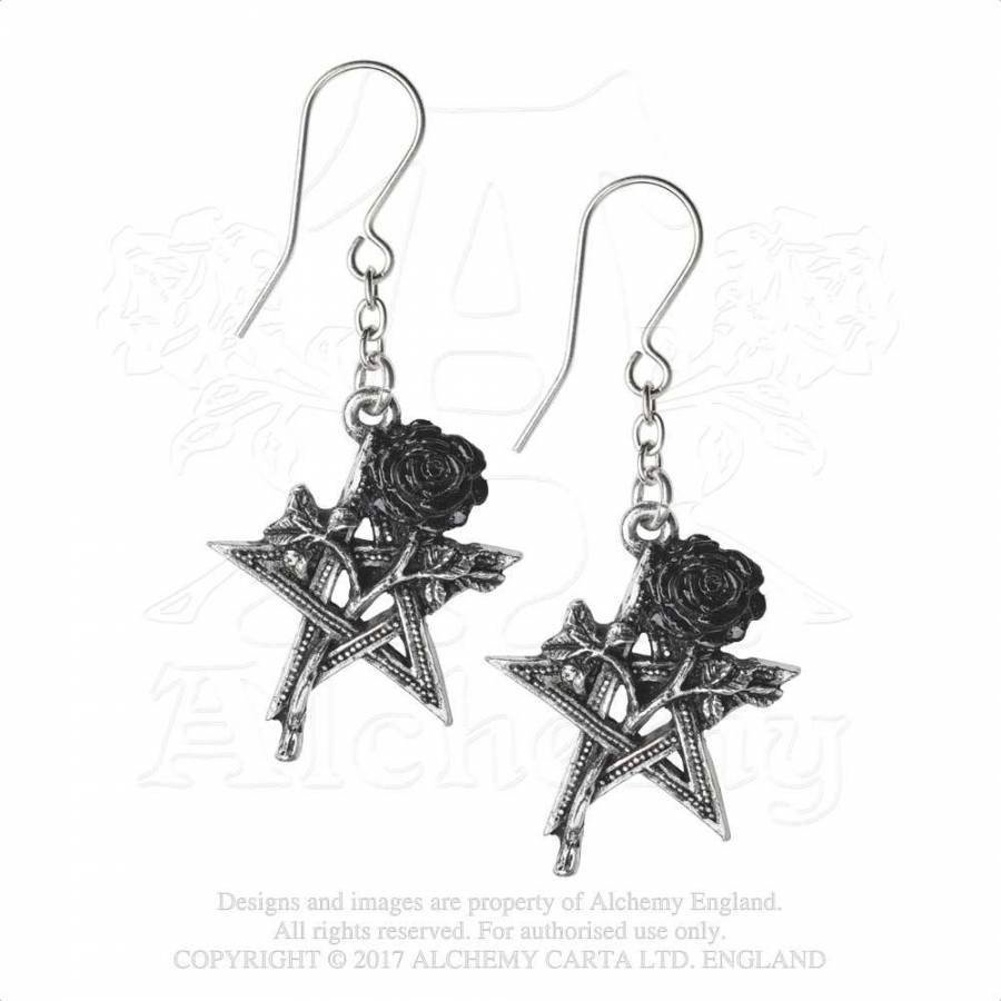 Zinn Ohrhänger Ruah Vered oder Black Star-3