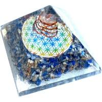 thumb-Orgonit Pyramide mit Lapislazuli und Blume des Lebens-5