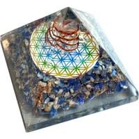 thumb-Orgonit Pyramide mit Lapislazuli und Blume des Lebens-6