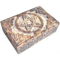 thumb-Speckstein Dose mit Pentagramm oder Triquetra-7