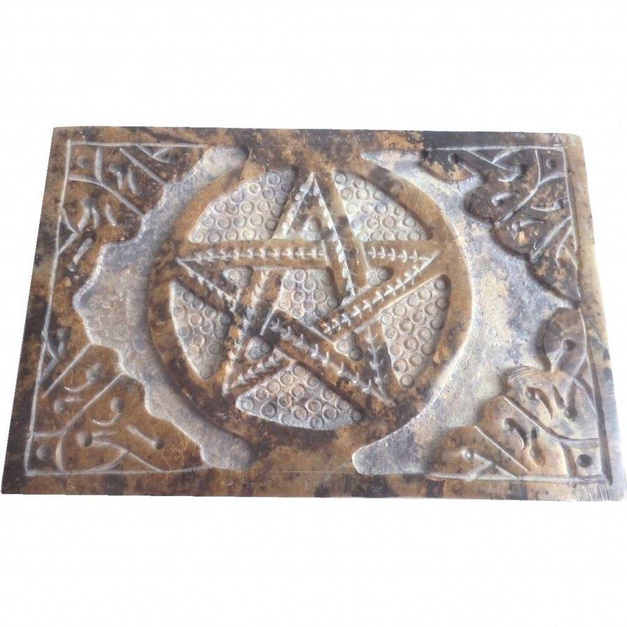 Speckstein Dose mit Pentagramm oder Triquetra-8